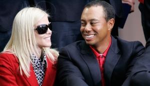 Tiger Woods and then wife, Elin Nordegren, are seen at the closing ceremonies for the Presidents Cup in San Francisco, Calif., Oct. 11, 2009. (AP / Scot Tucker)