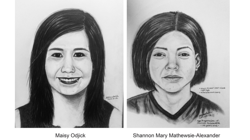 The Sureté du Quebec has age-progressed sketches of Maisy Odjick and Shannon Alexander