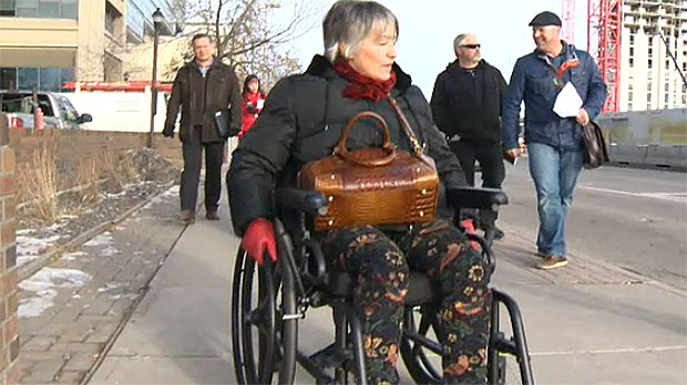 City Councillor Druh Farrel and city managers spent time in a wheelchair on Thursday to try and understand what it's like to live with a disability.
