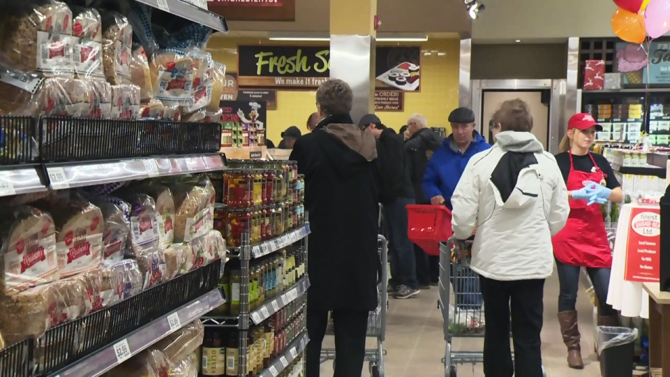 The Farm Boy supermarket on Fairway Road in Kitchener opened to the public on Thursday, Dec. 3, 2015.
