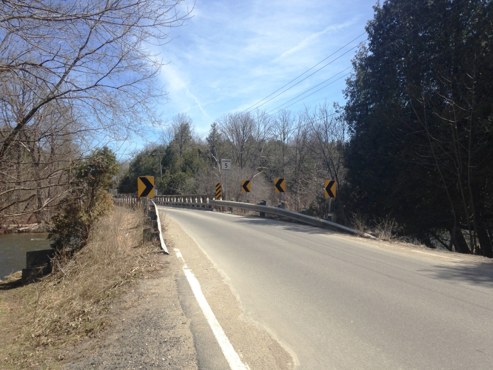 The Niska Road Bridge is seen on April 15, 2015.