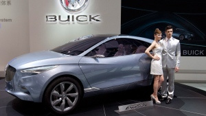 A Buick Envision at the Beijing International Automotive Exhibition, on April 24, 2012. (Alexander F. Yuan / AP)