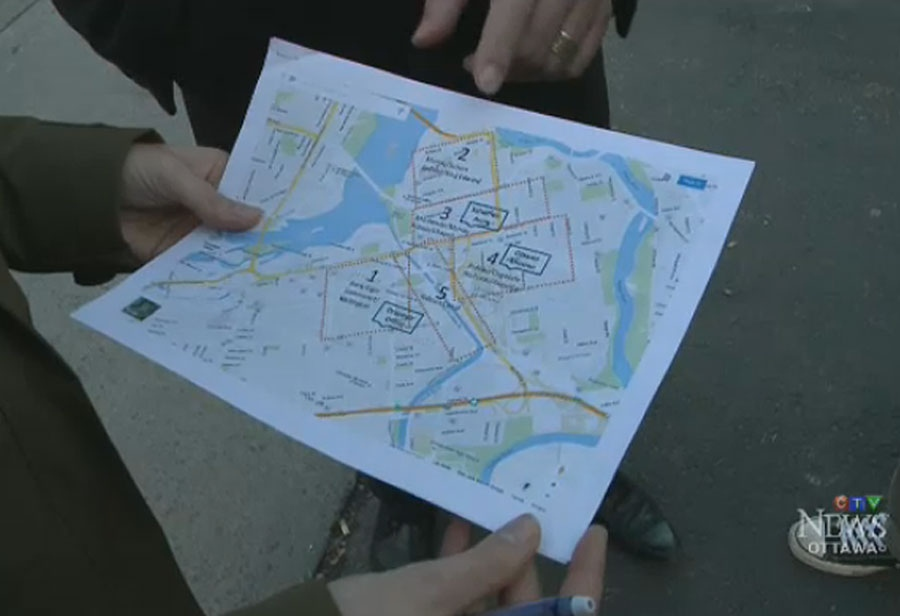 Volunteers from the non-profit Veterans Emergency Transition Services used maps showing the locations of local homeless shelters to help track down veterans who were living on the streets.
