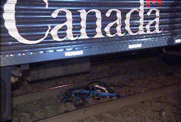 Cyclist hit by VIA train