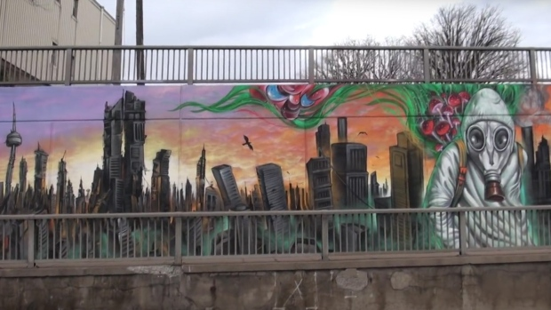 'Scary' Toronto mural