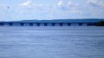 The Ile aux Tourtes bridge over Lake of Two Mountains (Photo: Blanchardb, July 1, 2008, Creative Commons)