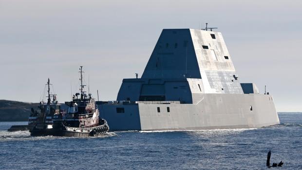 Stealth destroyer, the USS Zumwalt