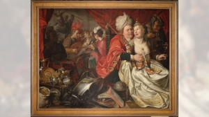 In this undated hand out photo provided by the Westfries Museum the painting by Jacob Waben, titled 'Vanity', dated 1622 is seen.(Westfries Museum via AP)