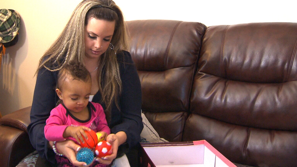 Terra Mercer is seen playing with her daughter Aaleyah in this undated image.