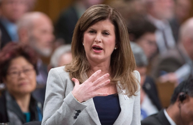 Interim leader of the Opposition Rona Ambrose comments on the government's speech from the throne on Parliament Hill in Ottawa, on December 7, 2015. (Adrian Wyld / The Canadian Press)