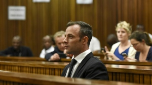 Oscar Pistorius sits in the dock at a courtroom of the North Gauteng High Court in Pretoria, South Africa, Tuesday Dec. 8, 2015. (AP / Herman Verwey)