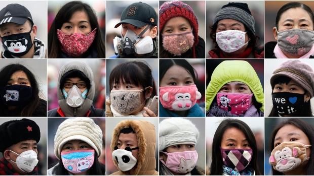 Beijing face masks during pollution