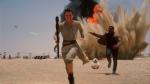 Daisey Ridley as Rey, left, and John Boyega as Finn, in a scene from the new film, 'Star Wars: The Force Awakens.' (Film Frame / Disney / Lucasfilm 2015)