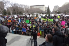 Alberta farm safety Bill 6 protest
