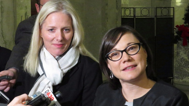 Catherine McKenna, left, and Shannon Phillips