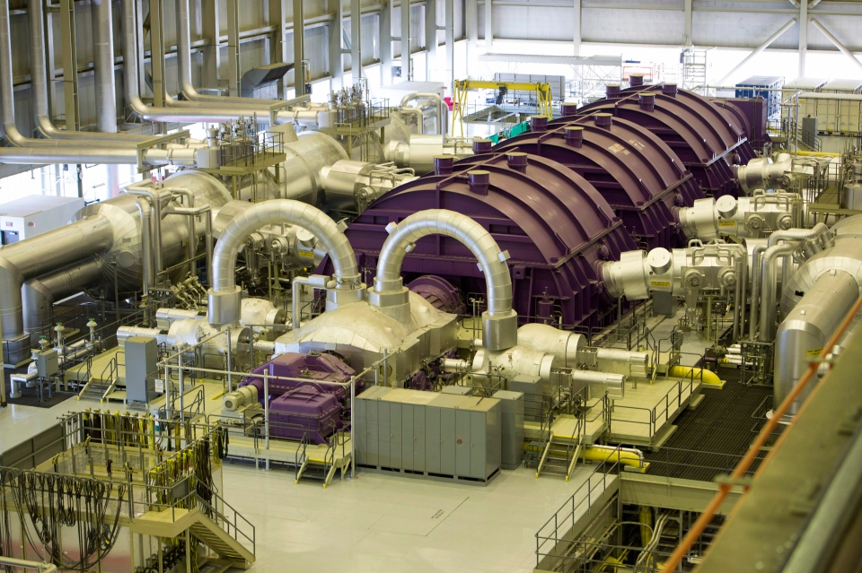 A steam turbine at the Darlington nuclear facility in Courtice, Ont., on Thursday, Oct. 30, 2014. (Frank Gunn / THE CANADIAN PRESS)