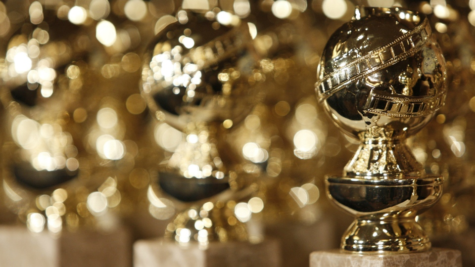 Golden Globe statuettes are displayed during a news conference at the Beverly Hilton Hotel in Beverly Hills, Calif. on Tuesday, Jan. 6, 2009. (AP / Matt Sayles)