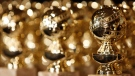 Golden Globe statuettes are displayed during a news conference at the Beverly Hilton Hotel in Beverly Hills, Calif., Tuesday, Jan. 6, 2009. (AP / Matt Sayles)