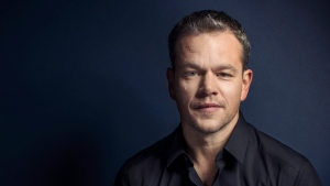 "In this Sept. 11, 2015 photo, Matt Damon poses for a portrait in promotion of his upcoming role in ""The Martian"" at the 2015 Toronto International Film Festival in Toronto. (Victoria Will/Invision/AP)"