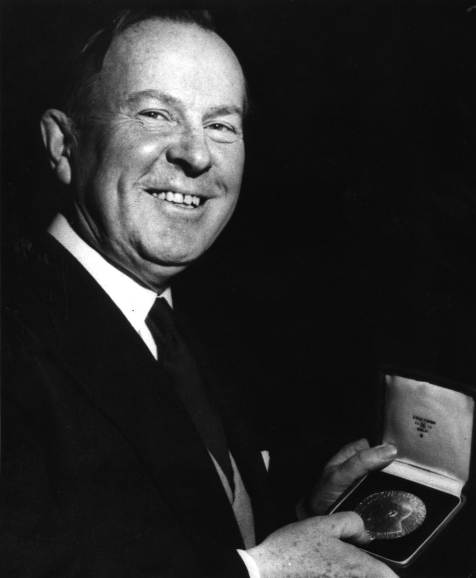 Lester Pearson, Canada's former prime minister, is shown in Oslo, December 10, 1956. (AP)