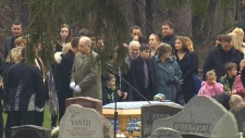 Evan Leversage is laid to rest