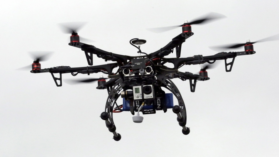 In this Feb. 13, 2014 file photo, a drone is demonstrated in Brigham City, Utah. (AP / Rick Bowmer, File)
