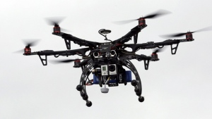 In this Feb. 13, 2014 file photo, a drone is demonstrated in Brigham City, Utah. (AP / Rick Bowmer)
