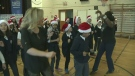 Lori Graham, teachers and students at Dunrae Gardens dance