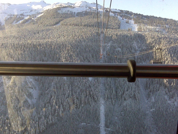 The view from the new Whistler peak-to-peak gondola. (Sarah Galashan/CTV)