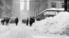 Downtown Toronto is seen in the aftermath of the city's worst-ever snowstorm on Dec. 12, 1944. (City of Toronto Archives)