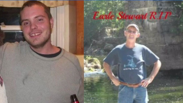 The remains of Matthew Hebb (left) and Earle Stewart (right) were found in a burned-out cabin near Sheet Harbour, N.S. in December 2012.