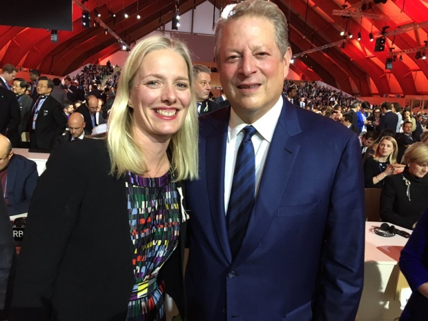 Catherine McKenna and Al Gore