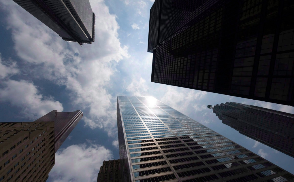 Bank towers on Bay Street in Toronto