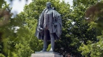 A statue of Edward Cornwallis stands in a Halifax park on Thursday, June 23, 2011. (Andrew Vaughan / THE CANADIAN PRESS)