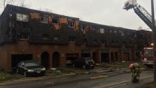 Fire at Brampton townhouse complex