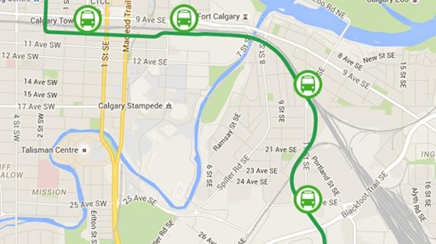 Green Line LRT map