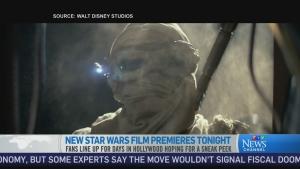 CTV News Channel: Star Wars film premieres tonight