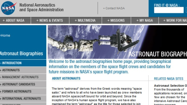 NASA opened its astronaut-application website Monday. It's accepting applications through Feb. 18. (NASA)