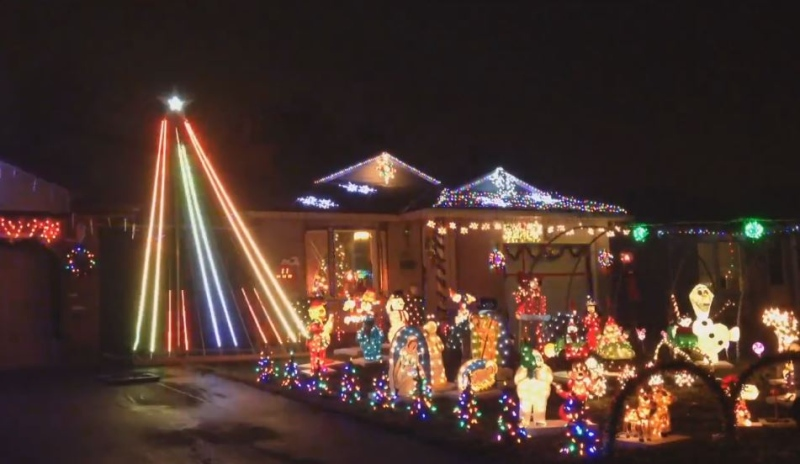 The Christmas display at a home on Mountbatten Place in London, Ont. on Friday, Dec. 11, 2015. (Jim Knight / CTV London)