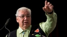 Truth and Reconciliation Commission Chair Justice Murray Sinclair speaks during the Grand entry ceremony during the second day of closing events for the Truth and Reconciliation Commission in Ottawa, Monday June 1, 2015.(Adrian Wyld /  THE CANADIAN PRESS)