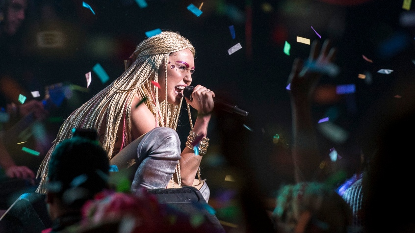 Miley Cyrus performed at Vancouver's Queen Elizabeth Theatre on Dec 14, 2015. (Anil Sharma).