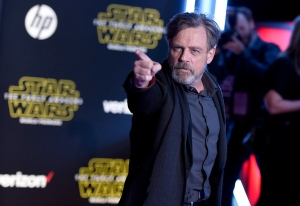 """Mark Hamill arrives at the world premiere of """"Star Wars: The Force Awakens"""" at the TCL Chinese Theatre on Monday, Dec. 14, 2015, in Los Angeles. (Photo by Jordan Strauss/Invision/AP)"""