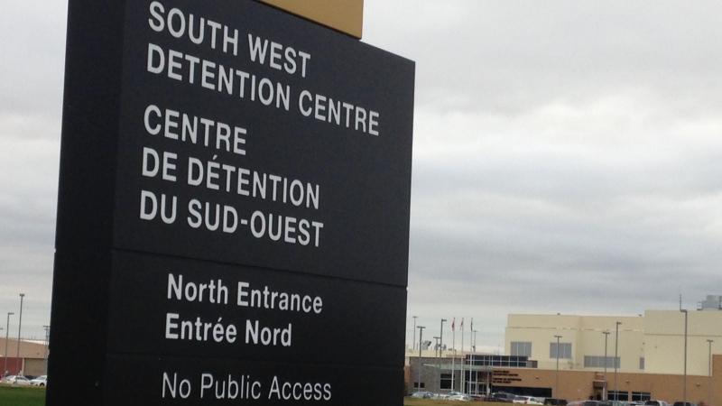 South West Detention Centre in Windsor, Ont., on Tuesday, Dec. 15, 2015. (Chris Campbell / CTV Windsor)