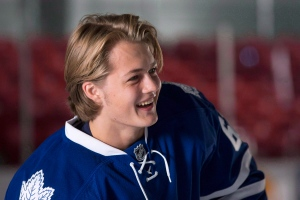 Toronto Maple Leafs' rookie William Nylander attends training camp in Toronto on September 18, 2014. (Chris Young / The Canadian Press)