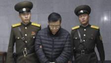 Hyeon Soo Lim at sentencing in North Korea