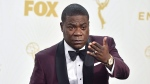 In this Sept. 20, 2015 file photo, Tracy Morgan poses in the press room at the 67th Primetime Emmy Awards in Los Angeles. (Photo by Jordan Strauss/Invision/AP, File)