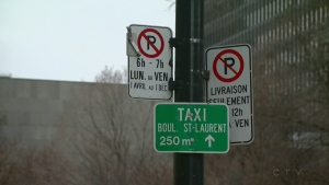 Montreal parking signs