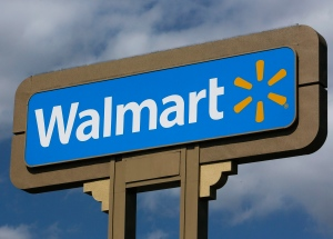 This May 28, 2013, file photo shows signage outside a Wal-Mart store in Duarte, Calif. (AP / Damian Dovarganes)