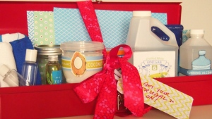 If you're looking to save money, you could create your own gift basket. (Amrita Singh / Pretty Frugal Living)