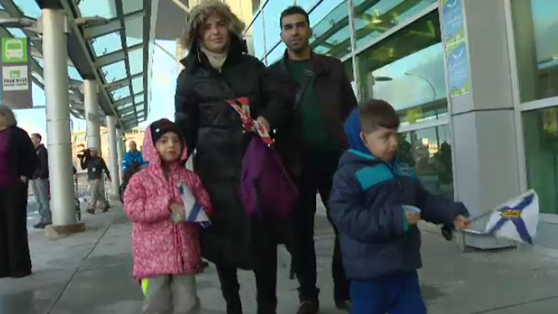 The Al Habash family arrives at the Halifax Stanfield International Airport on Dec. 16, 2015.